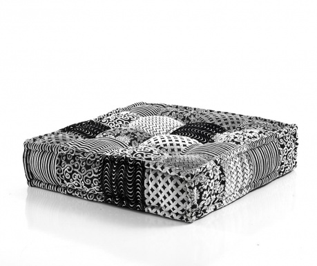 Podni jastuk Yantra Black Grey 80x80 cm