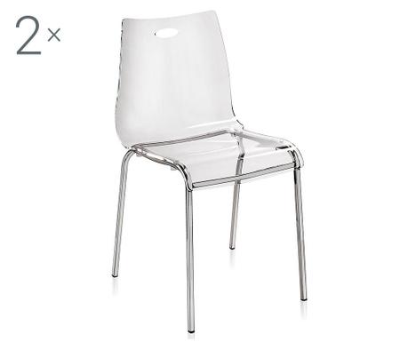 Set 2 scaune Essentia Clear