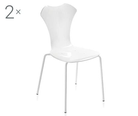 Set 2 scaune Neglige White