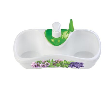 Dispenser detergent vase cu suport Lavander
