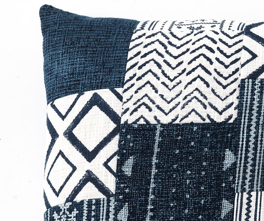 Perna decorativa Yantra White Blue 52x52 cm