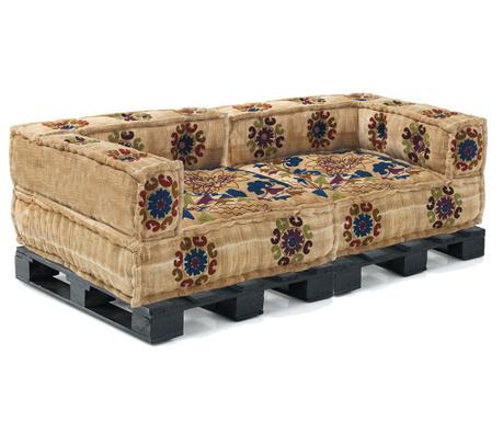 Set 2   jastuka za sjedenje i 2 postolja za kauč Yantra Sand Black