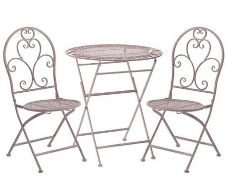 Set - zložljiva vrtna miza in 2 stola Antina