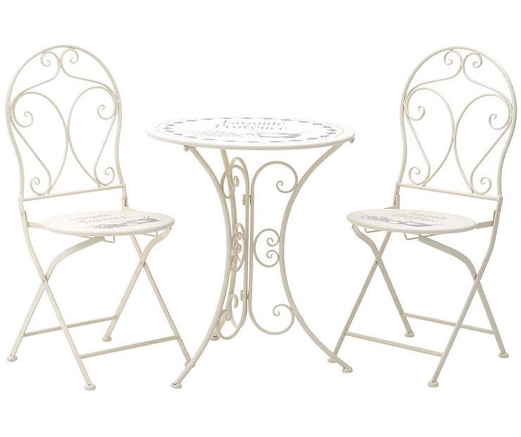 Provence Összecsukható kültéri asztal és 2 db szék