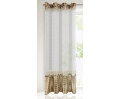 Evi Beige Brown Függöny 140x250 cm