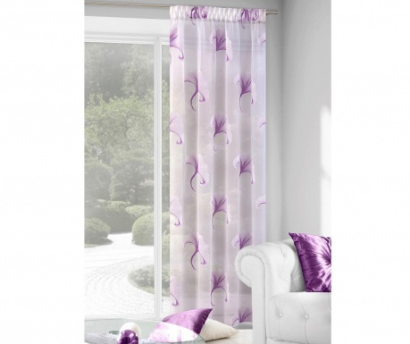 Perdea Ilona Cream Purple 140x280 cm