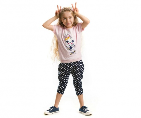 Set tricou si pantaloni trei sferturi pentru copii Happy Years
