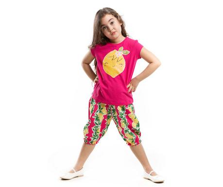 Set tricou si pantaloni trei sferturi pentru copii Lemon Shalvar