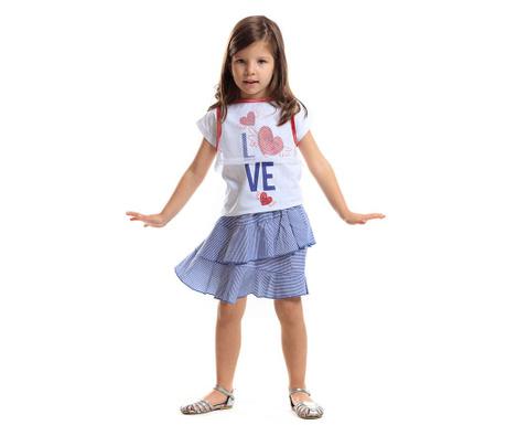 Set haine pentru copii 3 piese Hearts