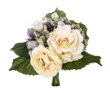 Buchet flori artificiale Rose and Ranunculus Purple