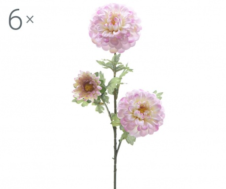 Set 6 flori artificiale Dahlia Lilac