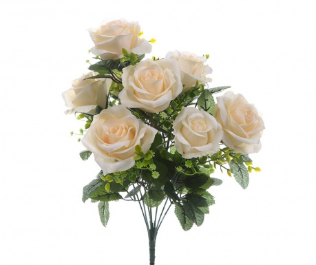 Buchet flori artificiale Roses and Gypsophila Cream