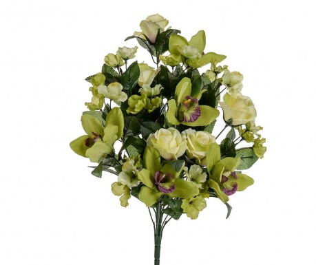 Buchet flori artificiale Orchid and Roses Green