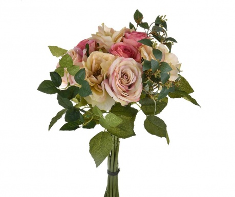 Buchet flori artificiale Rose Mauve