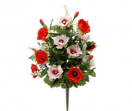 Buchet flori artificiale Anemone Red