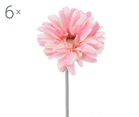 Set 6 flori artificiale Transvaal Daisy Pink