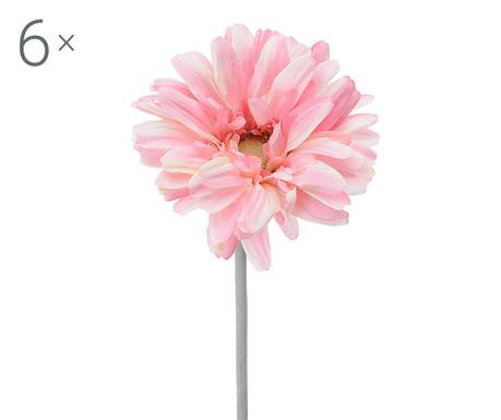 Set 6 umetnih cvetlic Transvaal Daisy Pink