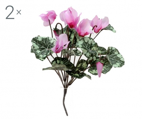 Set 2 buchete flori artificiale Cyclamen Lilac
