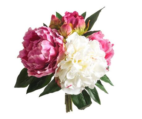 Kytice z umělých květin Peony White Pink