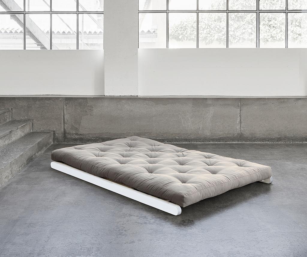 Raztegljiv počivalnik za dnevno sobo Figo Wide White and Dove Grey