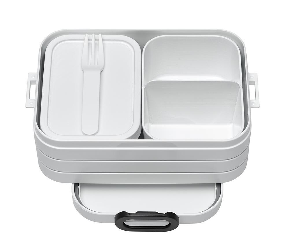 Cutie pentru pranz cu 1 tacam Bento White S