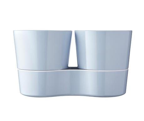 Σετ 2 γλάστρες με συστήματα αυτόματου ποτίσματος Hydro Herb Blue