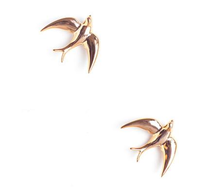 Sada 2 nástěnných dekorací Swallows Golden