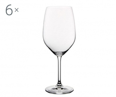 Set 6 pahare pentru vin Bohemia Royal Gourmet Crystalite 640 ml