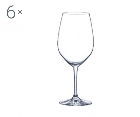 Set 6 pahare pentru vin Rona Yarra Crystalite 530 ml