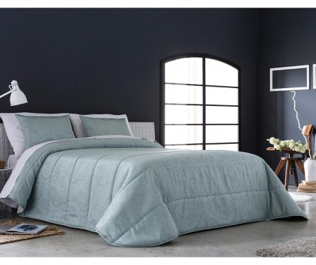 Set s prešitim posteljnim pregrinjalom King Vega Blue