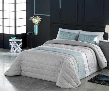 Set s prešitim posteljnim pregrinjalom King Sayre Blue