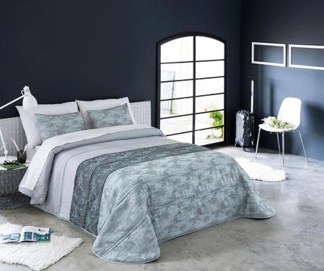 Set s prešitim posteljnim pregrinjalom King Indre Blue