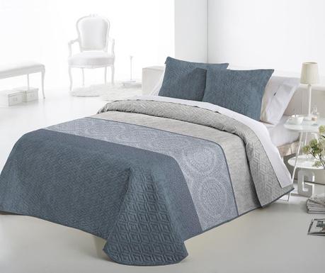 Set s prešitim posteljnim pregrinjalom King Lewis Blue