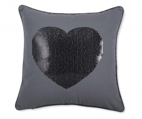Prevleka za blazino Luxury Love Grey and Black 45x45 cm