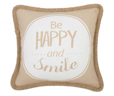 Prevleka za blazino Be Happy and Smile Cream 45x45 cm
