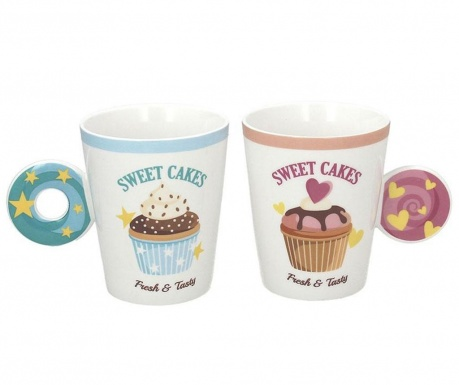 Set 2 skodelic Relax Cakes 370 ml