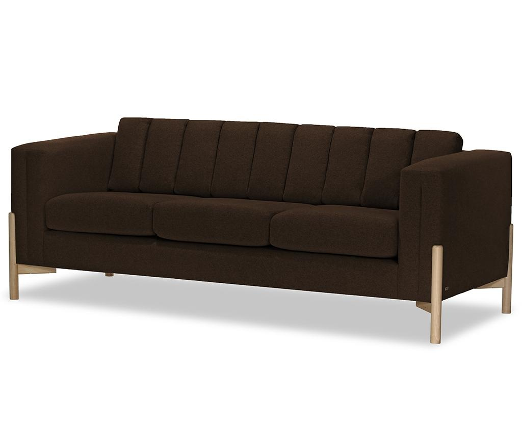 Canapea 3 locuri Haki Ontario Dark Brown