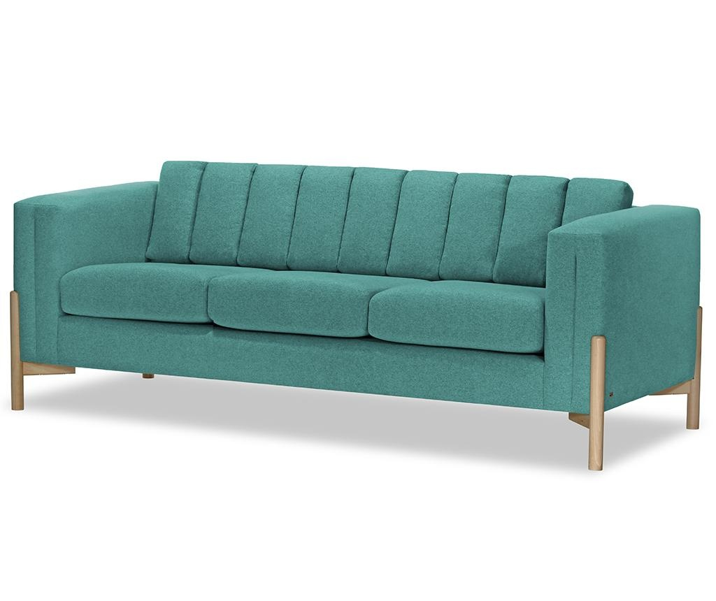 Canapea 3 locuri Haki Ontario Turquoise