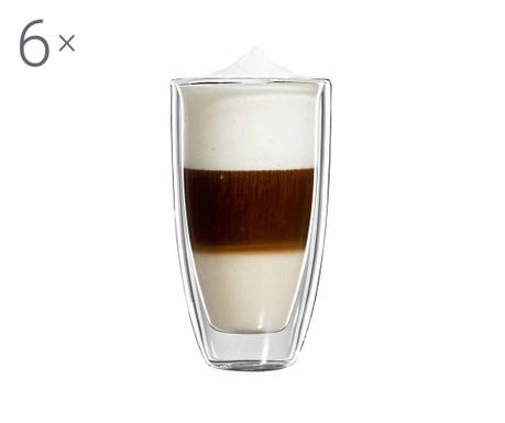 Roma 6 db Latte macchiato pohár 350 ml