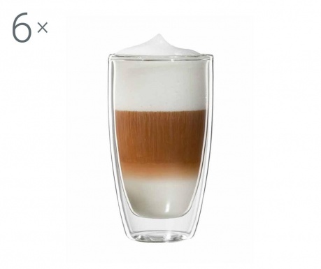 Roma 6 db Latte macchiato pohár 300 ml