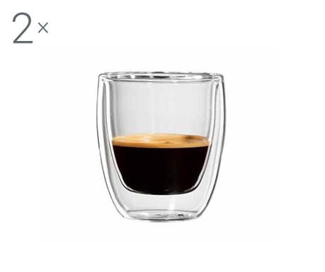 Roma Twin 2 db Eszpresszó pohár 80 ml