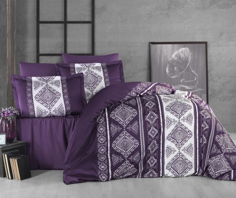 Posteljnina King Sateen Supreme Calipso Purple
