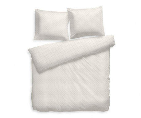 Set de pat Double Satin Extra Wide Puntini Off White