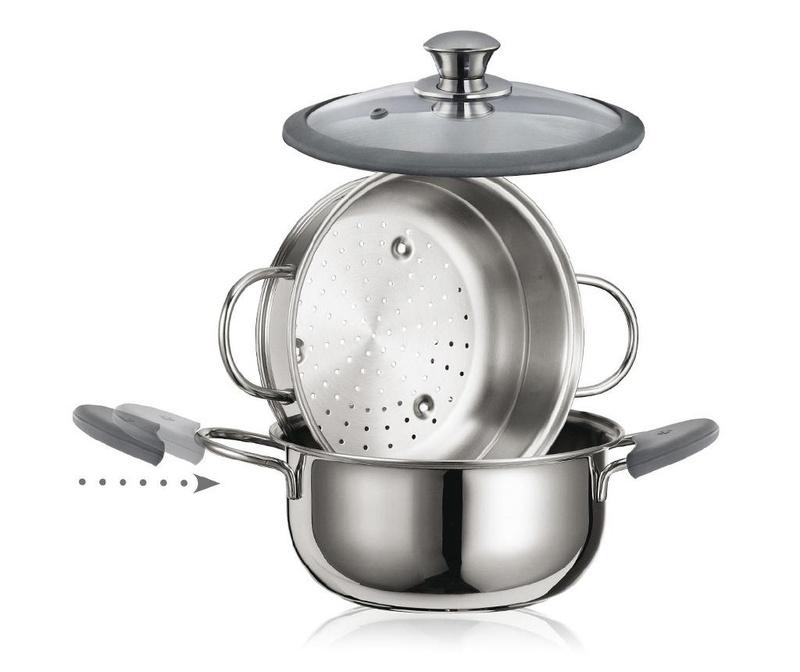 3-dijelni set za kuhanje na pari Premium 3.8 L