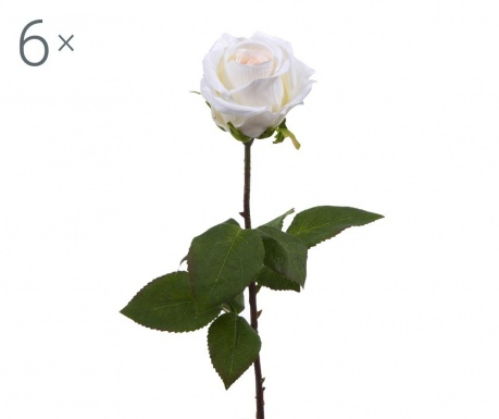 Set 6 umjetnih cvjetova Rosa Roman Cream
