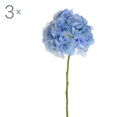 Set 3 umjetna cvijeta Ortensia Lyo Blue