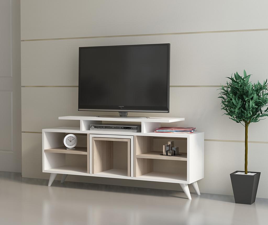 Set comoda TV si 2 masute de cafea Kutay  White Cordoba