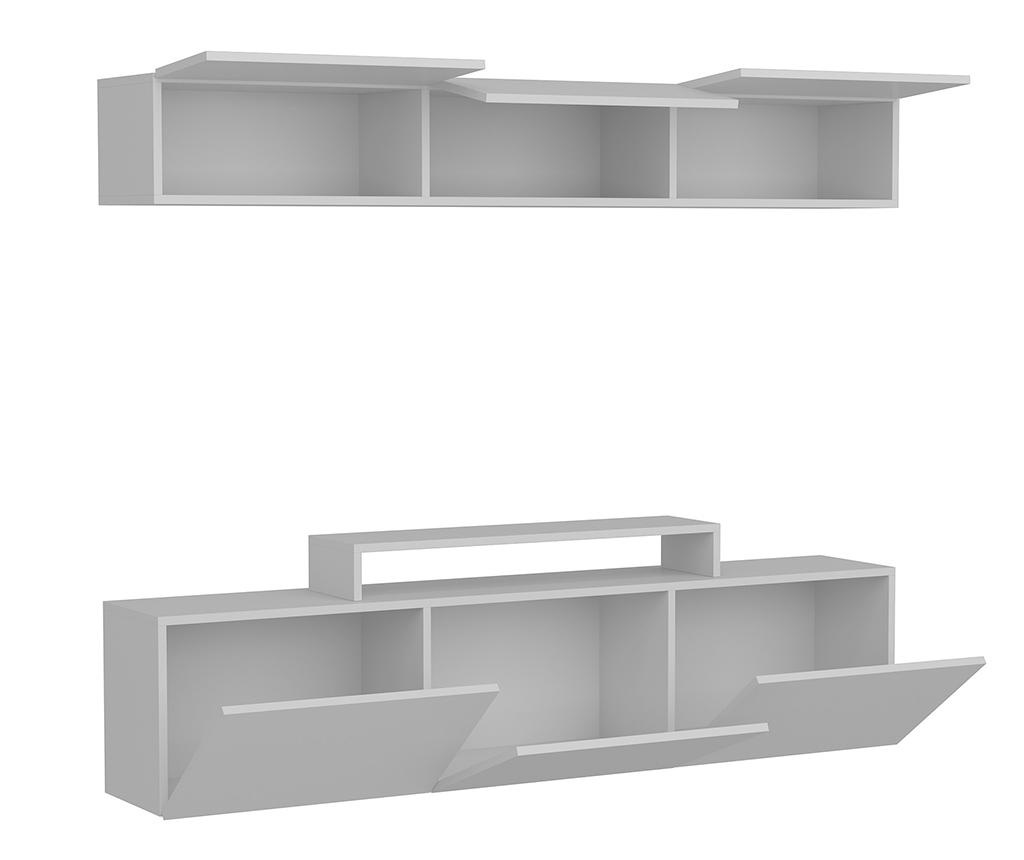 Set TV komoda in viseč element Line  White