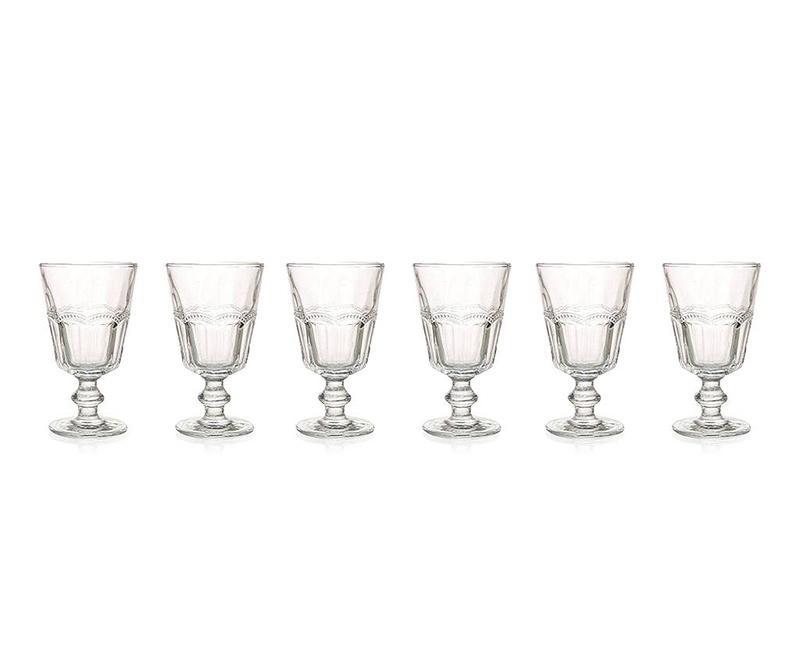Set 6 čaša s nogom Floyd Transparent 270 ml
