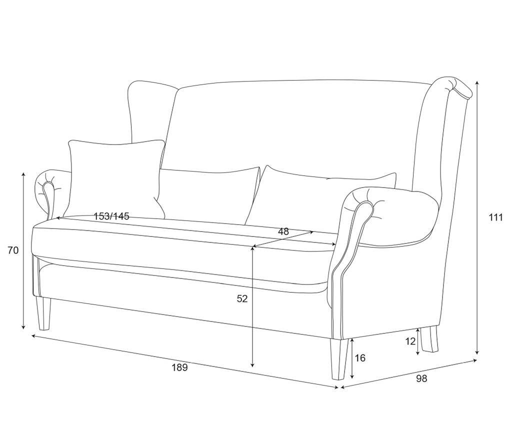 Canapea 3 locuri Alpaga Brick